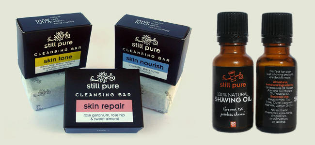 Soap and Shaving Oil for Still Pure