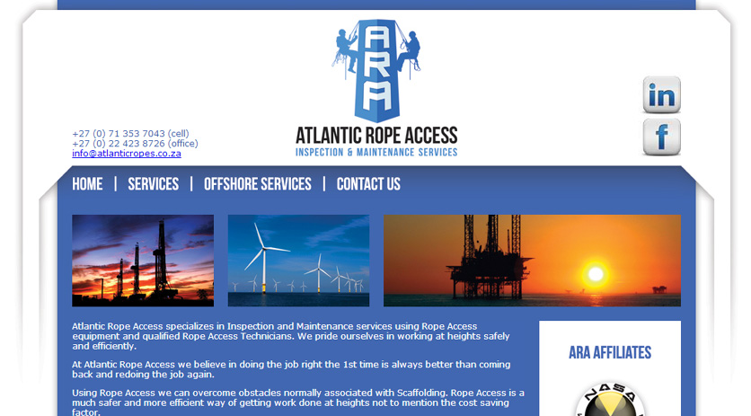 Atlantic Rope Access Web Design