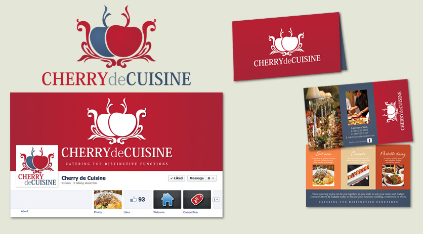 Cherry de Cuisine Logo and Business Card