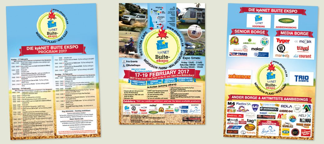 Adverts for the 2017 Western Cape kykNET Buite Expo